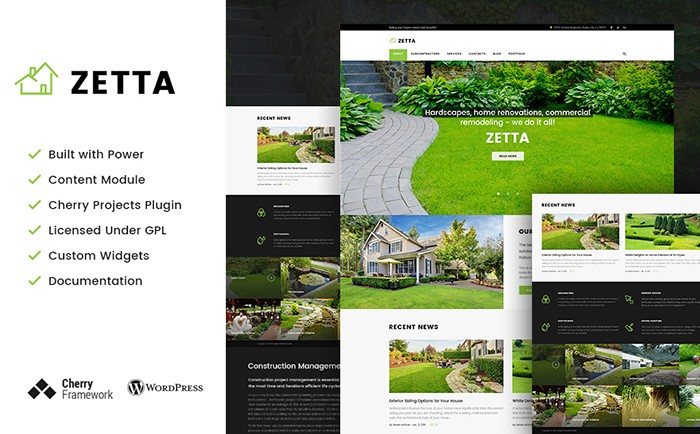 Exterior Design Agency WordPress Theme