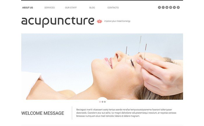 Acupuncture Salon Responsive WordPress Theme