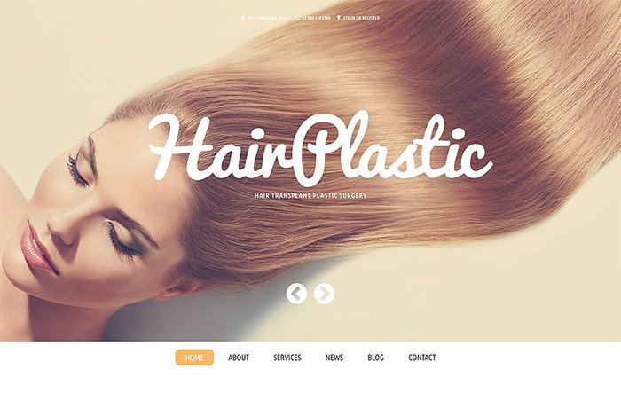 Hair Plastic Clinic WordPress Template