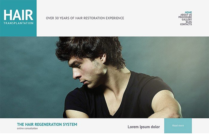 Hair Transplantation Salon Responsive WordPress Theme