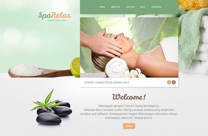 SpaRelax Salon WordPress Theme