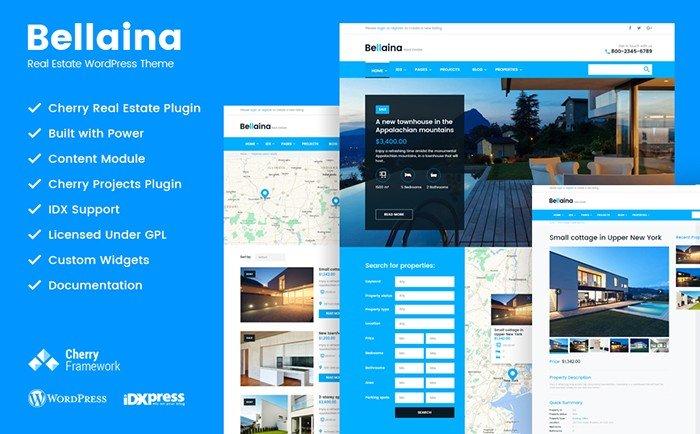 Bellaina - Real Estate Responsive WordPress theme