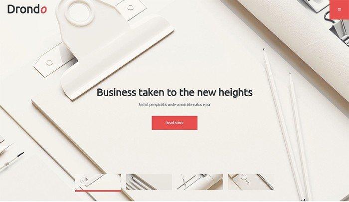 Drondo - Light Corporate WordPress Theme