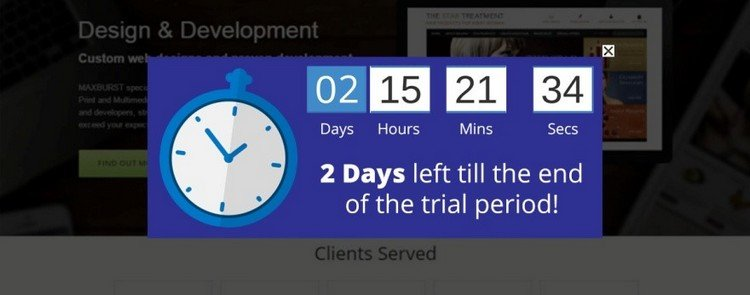Trial Period + Countdown
