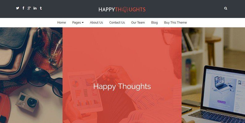 Happy Thoughts - Business WordPress Theme