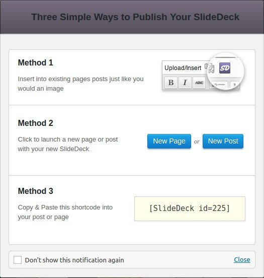 select any of the three publishing methods