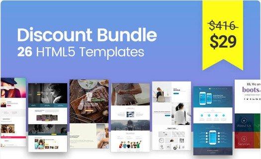 HTML5 Bootstrap Templates Mega Discount Bundle.