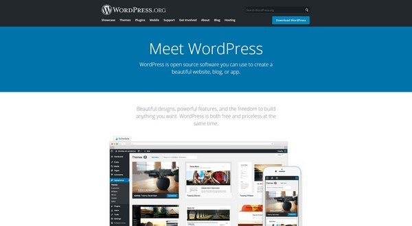 WordPress is the most popular website creating a platform in the world today.