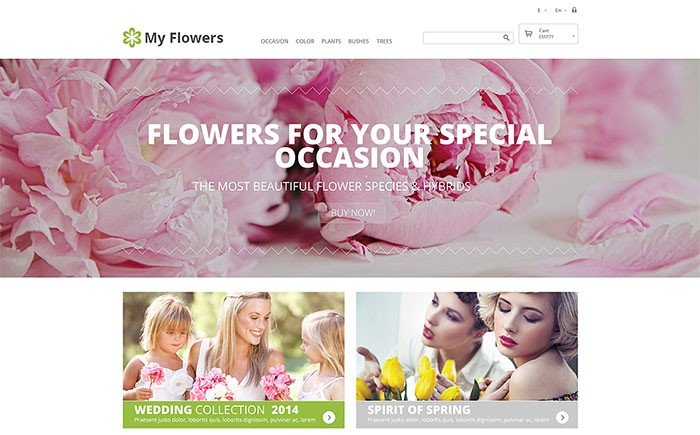 Bouquet Design Studio PrestaShop Theme