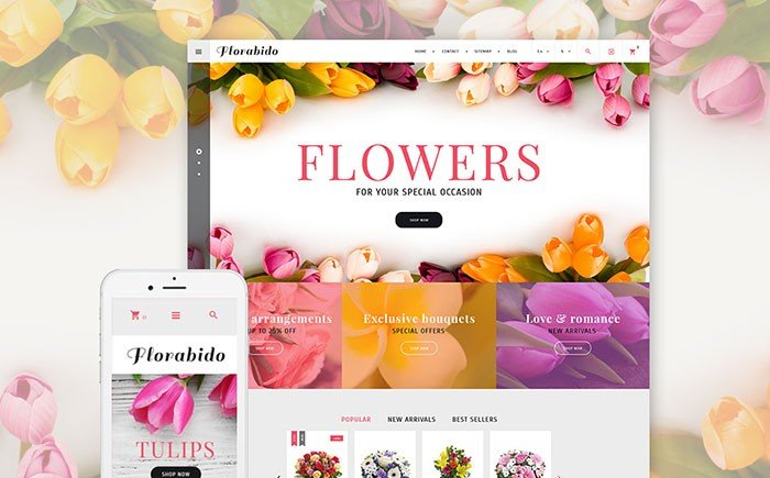 Top 20 florist eCommerce themes of 2017