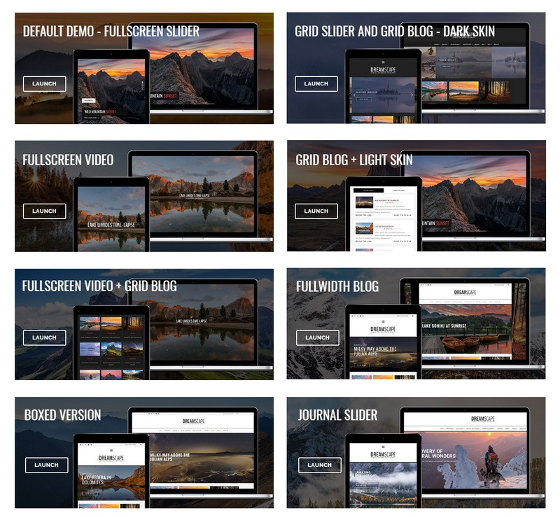 LandScape – A Versatile Photography WordPress Theme