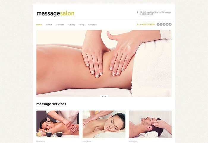 Massage Services Responsive WordPress Theme