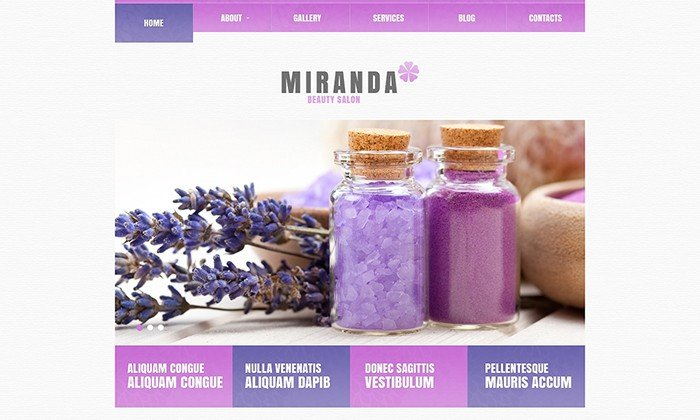 Miranda - Beauty Salon Responsive WordPress Theme