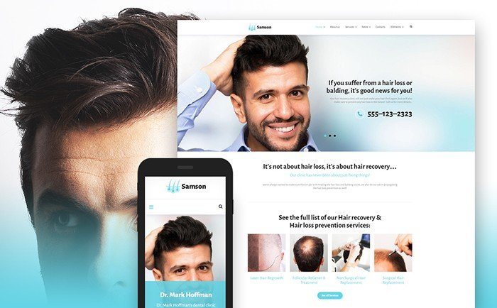 Samson - Hair Salon WordPress Template