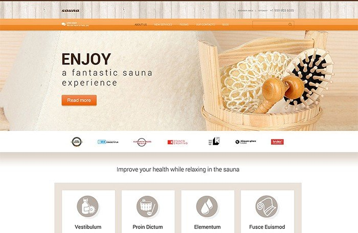 Sauna Salon Responsive WordPress Theme
