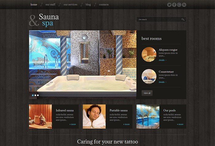 Sauna and Spa Responsive WordPress Theme