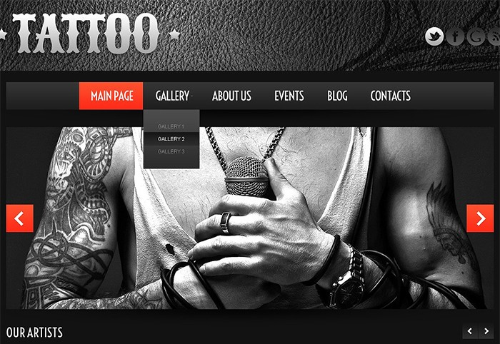 Tattoo Gallery Salon WordPress Theme