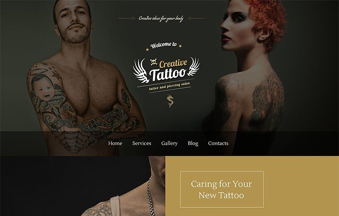 Creative Tattoo Salon WordPress Theme