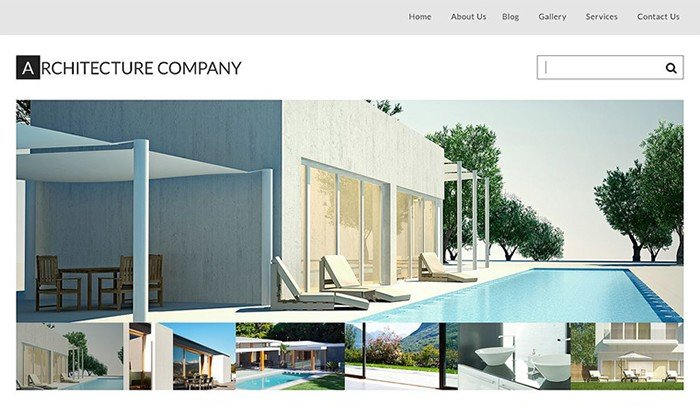 Stylish Architecture Firm WordPress Theme