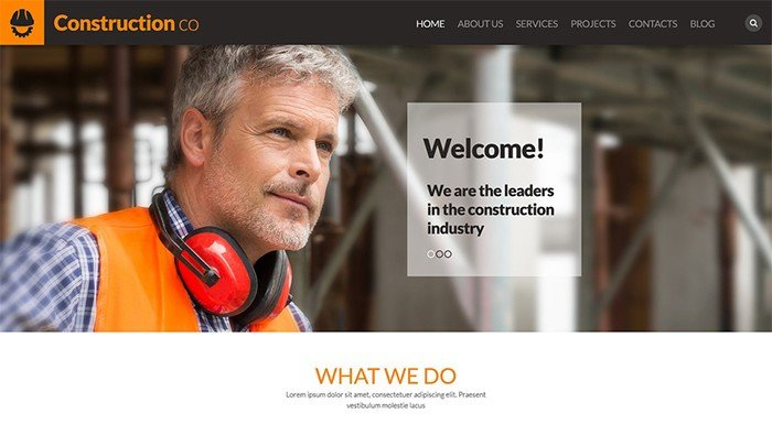 Strong Construction Business WordPress Theme