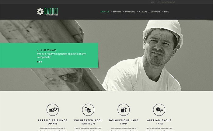Stylish Construction Company WordPress Theme