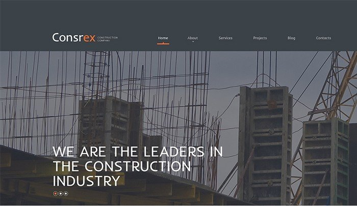 Ready-made Construction Company WordPress Theme