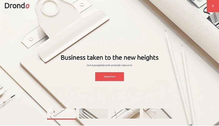 Drondo - Light Corporate WordPress Theme