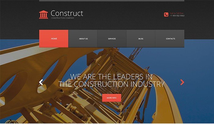 Wonderful Skyscraper Construction WordPress Theme