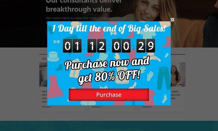 Sales + Countdown