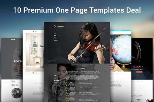 10 One Page HTML Templates Bundle.