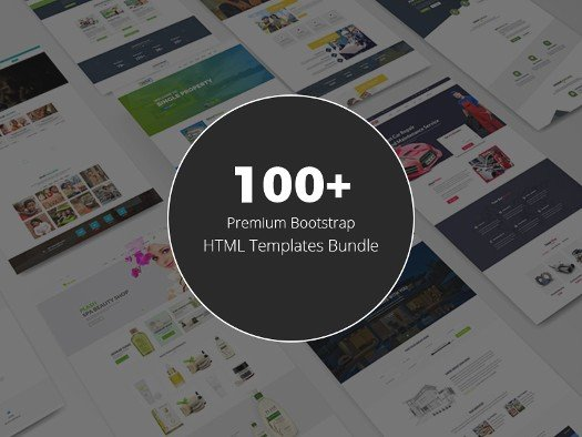 100 Bootstrap HTML Templates Bundle.