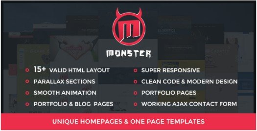 Monster HTML - Corporate HTML Template Bundle
