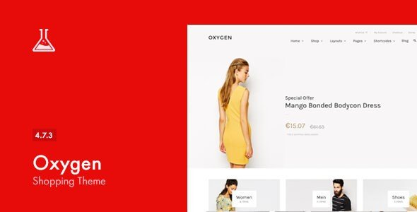eCommerce Themes - Oxygen is a WooCommerce integrated and localization ready WordPress theme.