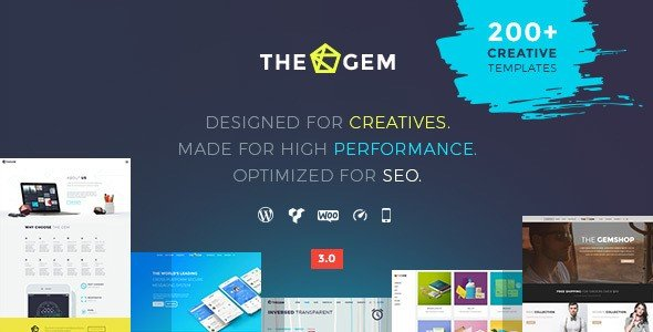 TheGem is exclusively packed with a wide-ranging list of features and options.