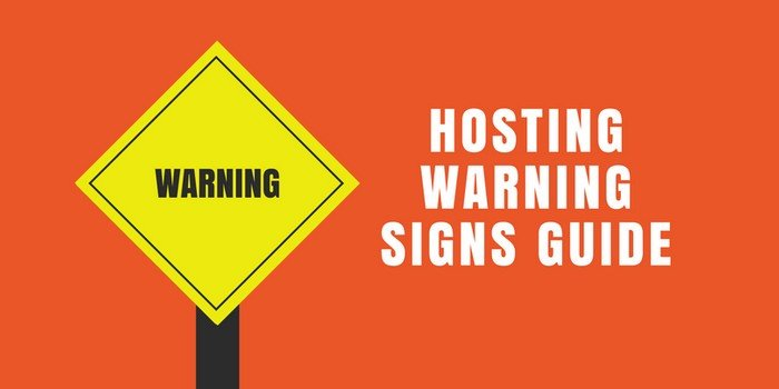 Hosting Warning Signs Guide