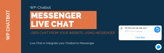 With WP-Chatbot website owners can add Facebook Messenger on their website.
