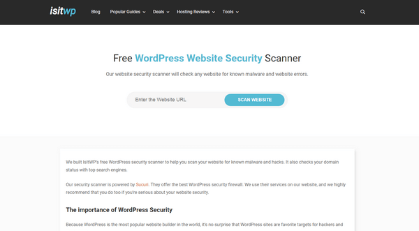Plugin Vulnerability - WordPress Website Security Scanner by IsItWP is powered by Sucuri which offers premium security solutions.
