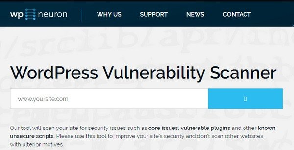 WP Neuron scans WordPress vulnerabilities in plugins, themes, core files, and libraries.
