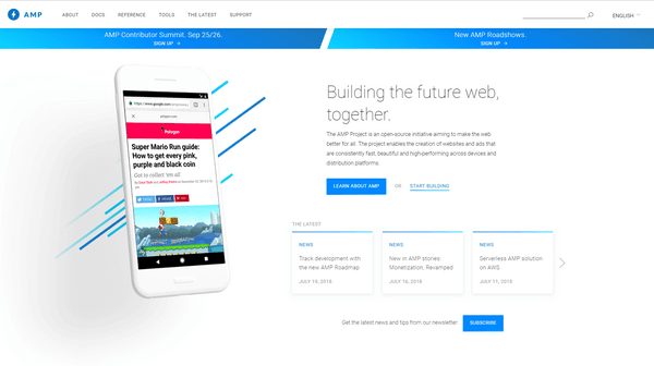 The accelerated mobile page is a Google and Twitter project.
