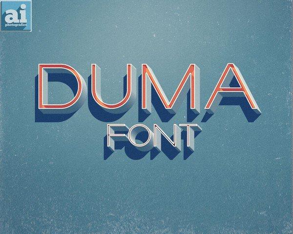 Free Fonts - DUMA is a beautiful free sans-serif font.