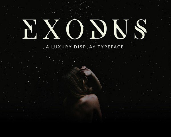 Exodus is a serif typeface.