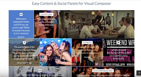 Add social media elements like Facebook, Twitter, and Instagram in an arranged pattern.