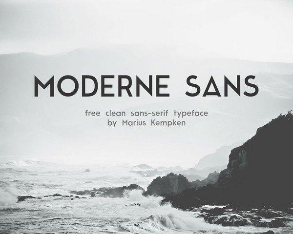Moderne Sans is a sans-serif typeface.