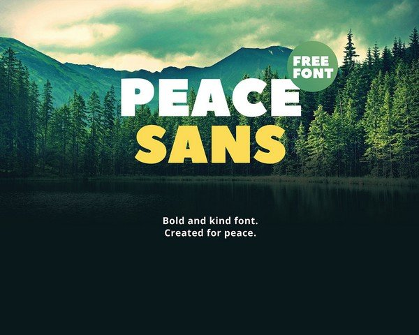 Peace Sans is a free bold typeface.