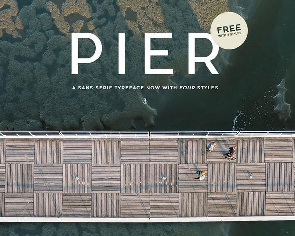 Pier Sans is a free sans serif typeface.