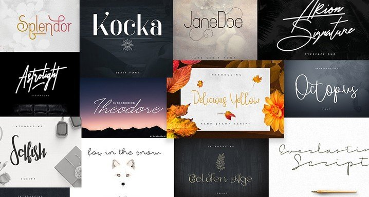 Pixelo Signature Fonts Bundle: 55 Amazing Fonts for All Your Design Needs