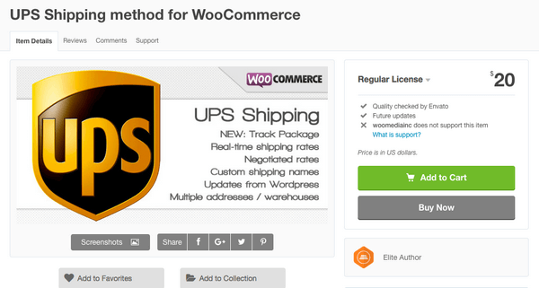 This is a UPS Shipping Method plugin for WooCommerce by Woomediainc