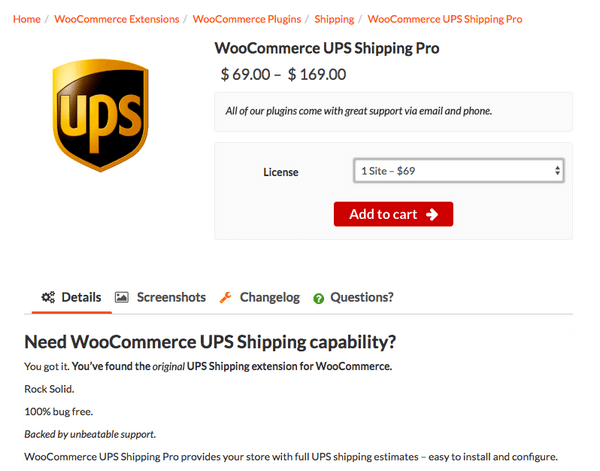 This is a UPS Shipping plugin for WooCommerce