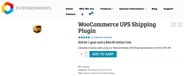 The WooCommerce UPS Shipping Plugin is a great little plugin.