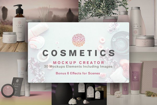 With the Creative Cosmetics Mock-Ups you can create a look that will match the personality of the audience you are targeting.